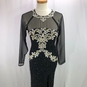 Dresses & Skirts - Formal Evening long dress heavily beaded S to M